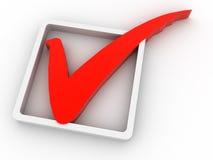 Checkmarkierung Lizenzfreie Stockfotos