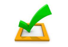 Checkmarkierung Lizenzfreies Stockbild