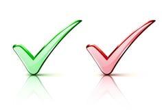 Checkmarkierung Ikonen Lizenzfreies Stockfoto