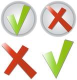 Checkmarkierungsaufkleber Lizenzfreie Stockfotos