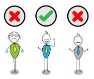Checkmarkierungsgeschäftsmann V N X Lizenzfreie Abbildung