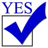 checkmarkröstning Arkivfoto