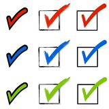 Checkmarks With Boxes Royalty Free Stock Images