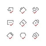 Checkmarksymbolsuppsättning 02 Arkivbild