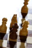 Checkmate. In a chess game stock image