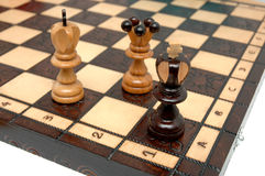 Checkmate. On chess board - strategy royalty free stock image