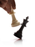 Checkmate. Concept with white and black king chess pieces Stock Image
