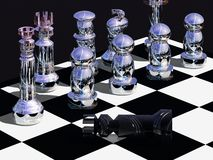 Checkmate. The end of a chess game, when one side is defeated by the other Stock Photos