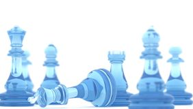 Checkmate. Chess pieces with dof and clipping path , 3d render Royalty Free Stock Photos