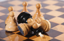 Checkmate. Pawns have won the king by numerical advantage Royalty Free Stock Image
