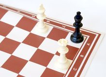 Checkmate. To the black king stock photos