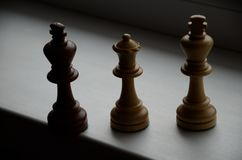 Checkmate of the black king. Without a board royalty free stock photos