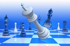 Checkmate com a queda do rei ilustração do vetor