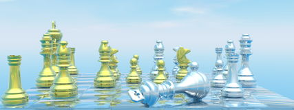 Checkmate - 3D render Stock Photos