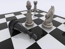 Checkmate di scacchi Fotografia Stock Libera da Diritti