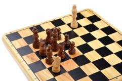 Checkmate ha fatto da un cavallo Fotografia Stock Libera da Diritti