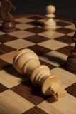 Checkmate king piece -success Royalty Free Stock Photo