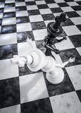 Checkmate knockout black Stock Images