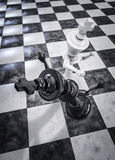 Checkmate knockout white Stock Image