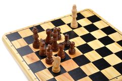 Checkmate made by one horse Royalty Free Stock Photo