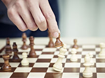 Checkmate by a pawn Stock Images