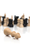 Checkmate. Rebellion against the King Stock Photography