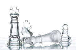 Checkmate Strategy on chess board, business War Winning Royalty Free Stock Photos