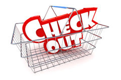 Checkout Basket Illustration Stock Photos