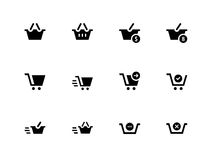 Checkout icons on white background. Vector illustration royalty free illustration
