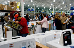 Checkout line for holiday shopping Stock Image