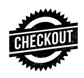 Checkout rubber stamp. Grunge design with dust scratches. Effects can be easily removed for a clean, crisp look. Color is easily changed Royalty Free Stock Images