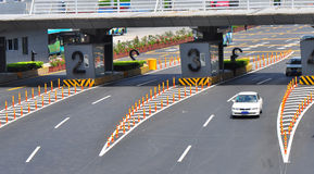 Checkpoint. Cars passing through buji checkpoint in shenzhen city royalty free stock photo