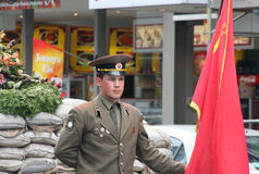 Checkpoint Charlie Stock Photography
