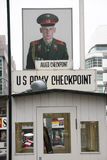 Checkpoint charlie. The famous checkpoint charlie in the German capital Berlin royalty free stock images
