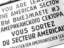 Checkpoint Charlie Stock Images