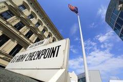 Checkpoint Charlie, Berlín, Alemania Imágenes de archivo libres de regalías