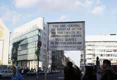 Checkpoint Charlie Berlin Stock Image