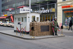Checkpoint Charlie. Berlin Royalty Free Stock Images