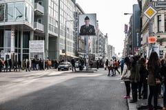 Checkpoint Charlie, Berlin Photos libres de droits