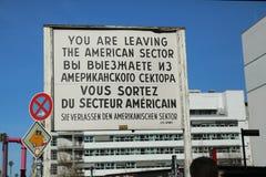 Checkpoint Charlie, Berlin zdjęcie royalty free