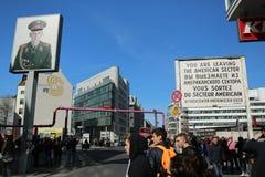 Checkpoint Charlie, Berlin fotografia stock