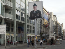 Checkpoint Charlie, Berlin Royalty Free Stock Images