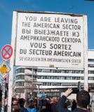 Checkpoint Charlie, Berlin, Deutschland Lizenzfreie Stockbilder