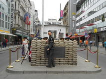 CHECKPOINT CHARLIE, BERLIN, GERMANY royalty free stock photos