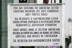 Checkpoint Charlie Berlin Germany royalty free stock image