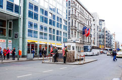 Checkpoint Charlie,BERLIN, GERMANY Royalty Free Stock Photos