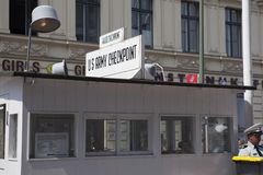 Checkpoint Charlie in Berlin Stock Photography
