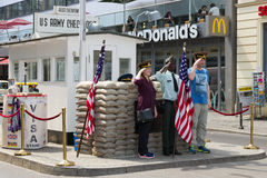Checkpoint Charlie - Berlin Stock Photos