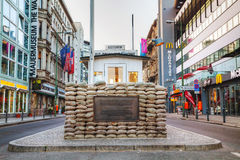 Checkpoint Charlie in Berlin, Germany Stock Photos