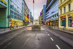 Checkpoint Charlie of Berlin Royalty Free Stock Photography